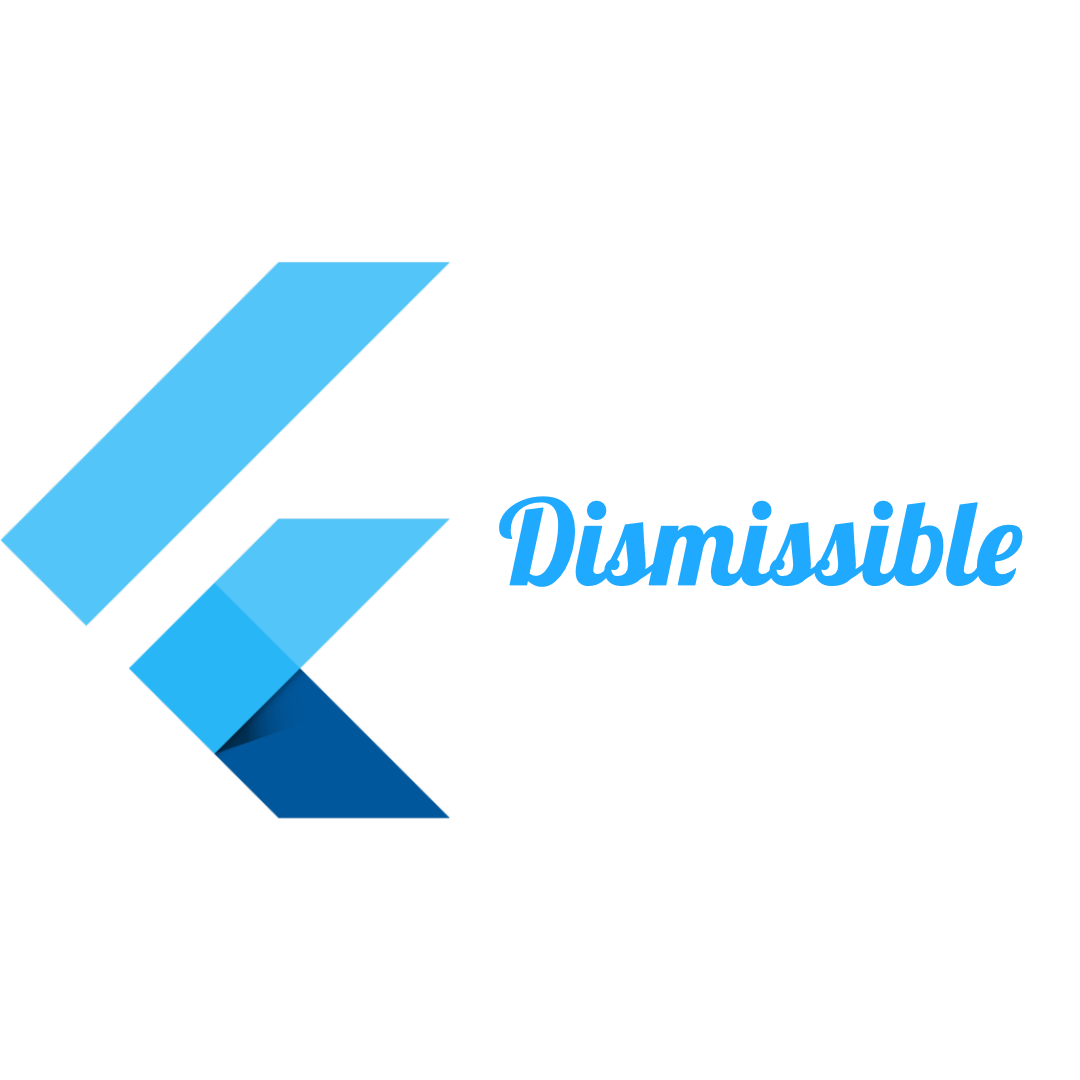 Flutter Dismissible Widget